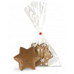 Steaua Craciunului fara gluten din turta dulce si ciocolata