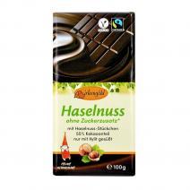 Ciocolata neagra cu alune fara adaos de zahar