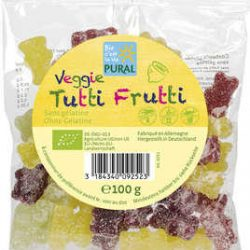 Jeleuri gumate fara gluten Tutti Frutti, Bio
